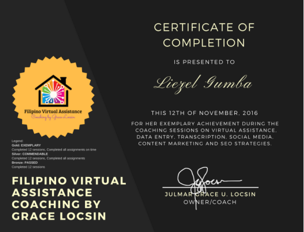 Freelancing Course Certificate