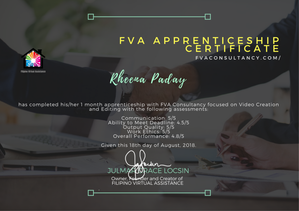 Filipino Virtual Assistance Apprenticeship program