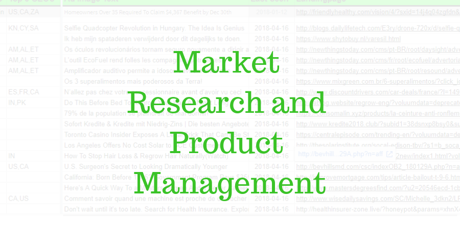 Product research